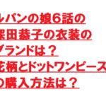 ルパンの娘6話の深田恭子の衣装のブランドは?花柄とドットワンピースの購入方法は?