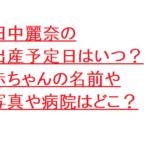 田中麗奈の出産予定日はいつ?赤ちゃんの名前や写真や病院はどこ?