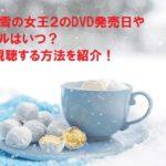 アナと雪の女王2のDVD発売日やレンタルはいつ?無料視聴する方法を紹介!